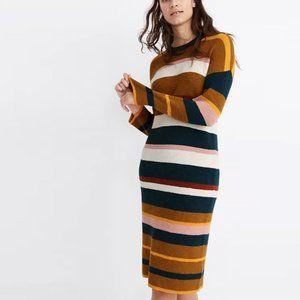 Madewell Drop-Shoulder Sweater Midi Dress M NWT